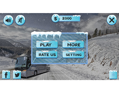 bus game snowy ui