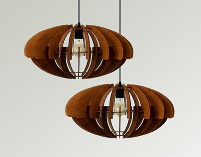 Wood Pendant Light / Nordic Ceiling Lamp / Dining Light