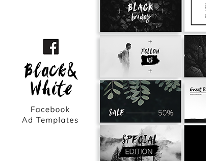 Black&White Facebook Ad Templates