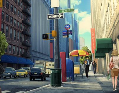 Manhattan Street Backgrounds