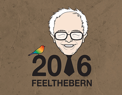 FeelTheBern Bernie2016 Recycled Journal
