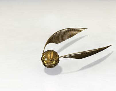 Harry Potter's Golden Snitch | 3-D Parametric Creation