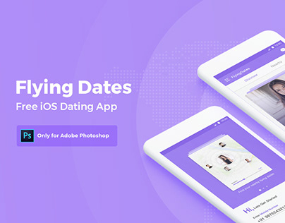 Flying Dates – Free iOS Dating App UI/UX