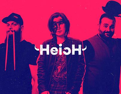 Heich - brand design for rock & folk group