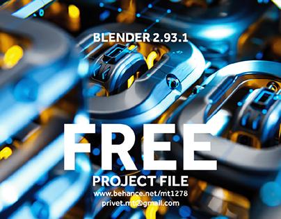 Free Sci-Fi 3D model with studio setup (Blender 2.93.1)