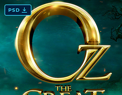 [PSD] Oz the Great and Powerful Text Effect