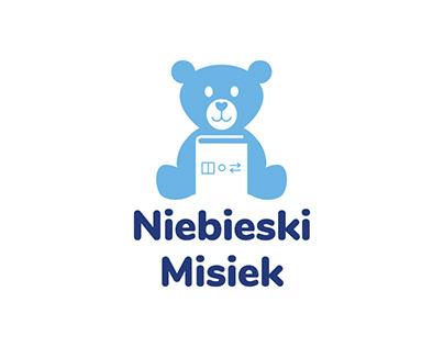 Niebieski Misiek logo design