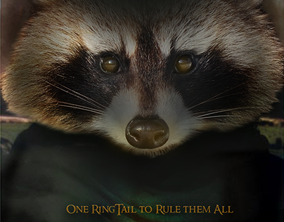 Iconic Movie Posters, but with Raccoons