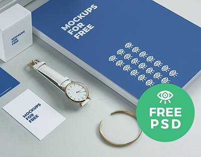 Stationary Set Mockup / Free PSD