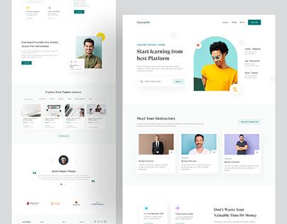 CoursePal Learning Website Design