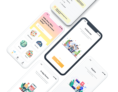 E-learning app for teenagers