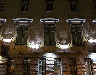 Shadow portraits in St. Petersburg