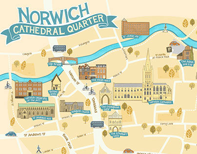 Norwich Cathedral Quarter Map