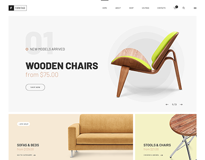 Furniture store. WordPress Theme