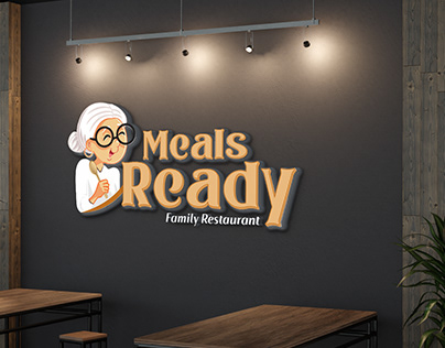 Meals Ready Family Restaurant Logo Design