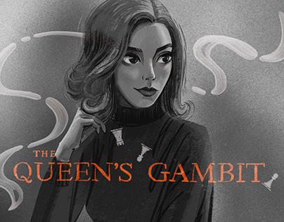 Fan art of The Queen's Gambit