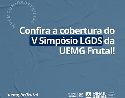 Cobertura do V Simpósio LGDS da UEMG Frutal