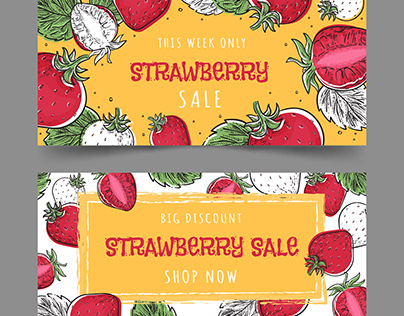 Strawberry Fruit Banners