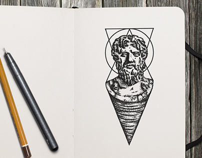 Tattoo - Statue Zeus