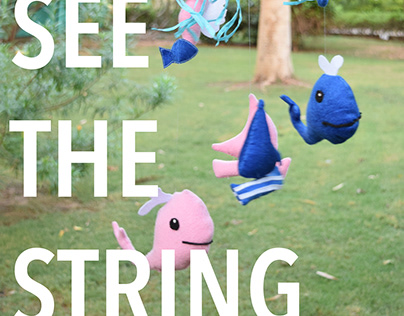 SEE THE STRINGS- Soft Cot Mobile