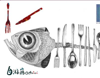 插畫原木明信片 / Illustration postcard