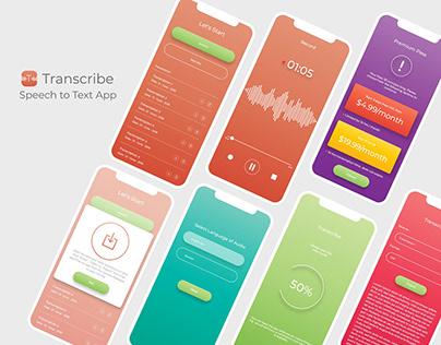 Transcribe App UI