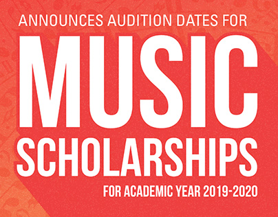Music Scholarship Audition Flyer