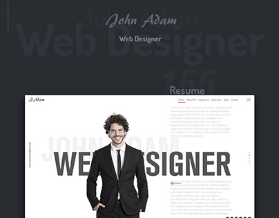 John Adam's One Page Resume Website