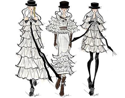 Chanel 2015 Runway Illustration