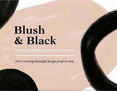 Blush & Black Organic Shapes by Bron Alexander