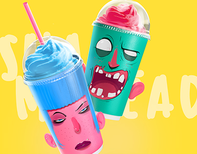 Shake my head - the milk shakes packing design