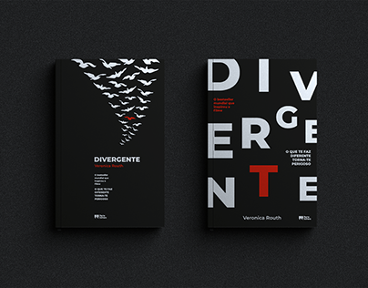 "Book cover redesign ""Divergente"""