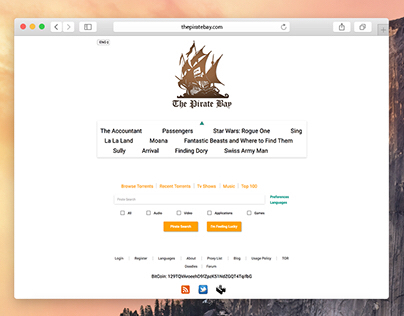 The Pirate Bay Redesign