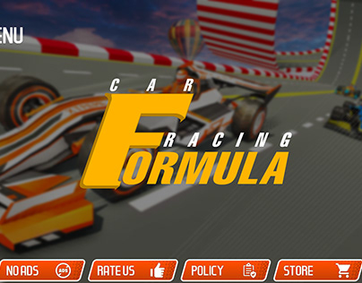 Formula Car Racing Stunts Games 2021 : UI