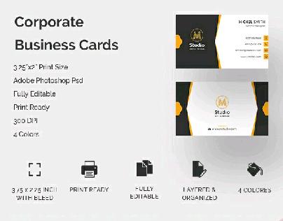 M Studio - Corporate  Business  Card