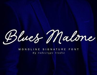 Blues Malone / Monoline Signature Font