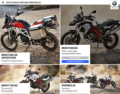 BMW test rides website