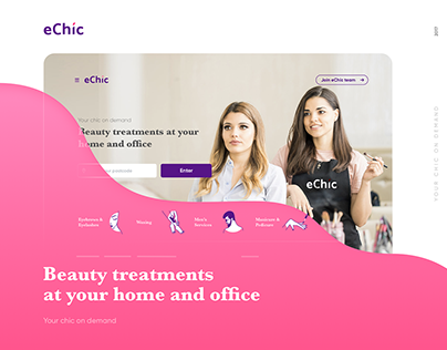 eChic — UX/UI for a beauty service booking platform