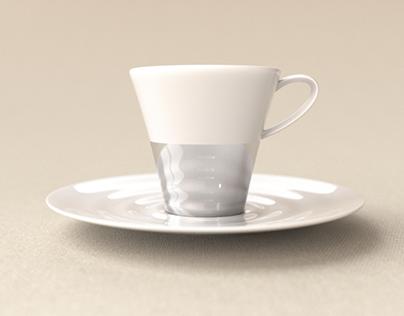 Création d'un ensemble à café en porcelaine de Limoges