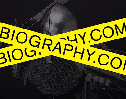 BIOGRAPHY.COM - Redesign concept