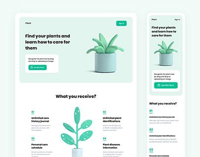Plant - Landing Page