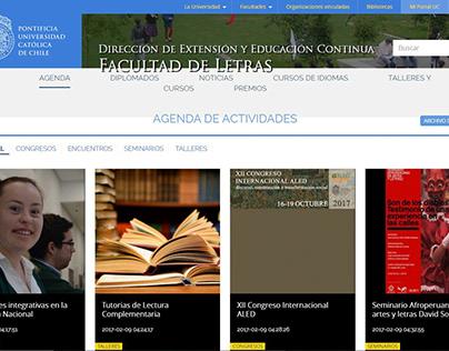 Dirección de extensión de la Facultad de Letras UC