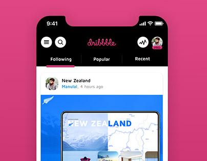 Dribbble App Design