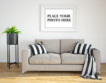 Free Interior Photo Frame Mockup PSD