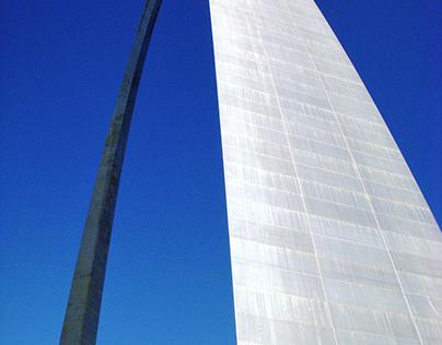 Arch Into Blue Sky
