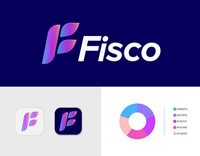 F Letter Logo - Fisco Brand Identity