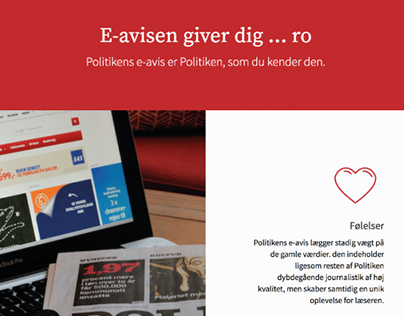 Promovering af E-avis   Politiken