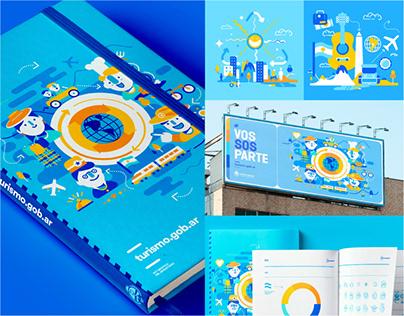 Ministerio de Turismo. Illustration package