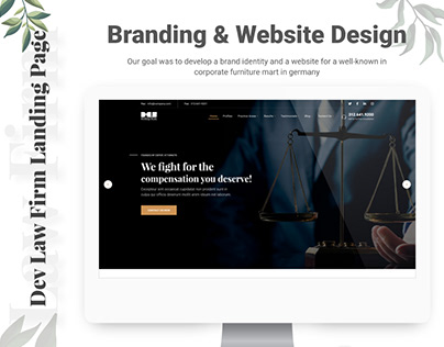 Dev Law Firm Landing Page Free Download