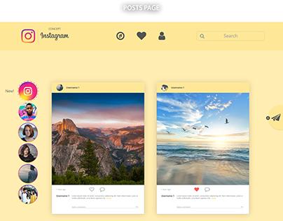 Instagram website work(Concept)